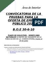 Convocat.pruebas o.empleo Publico