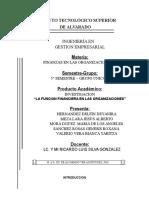 La Funcion Financiera en Las Organizaciones