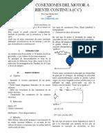 TIPO DE CONEXIONES DEL MOTOR A CORRIENTE CONTINUA (C.C)