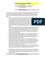 Principles of Adult Learning Document