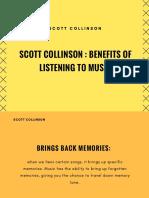 Scott Collinson Benefits of Listening to Music