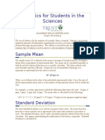 Statistics for Students