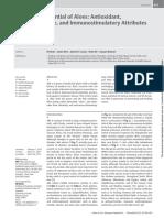 Anticancer Potential of Aloes Antiox, Antiproliferrative, And Immunostimulatory Attributes