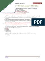 CCNA 1 Chapter 1 v5.0 Exam Answers 2015 100