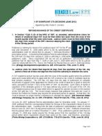 51. Summary of Significant CTA Decisions (June 2012) - RCU