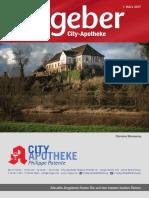 Ratgeber aus Ihrer City-Apotheke – März 2017