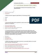 CCNA 1 Chapter 11 v5.0 Exam Answers 2015 100