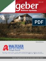 Ratgeber aus Ihrer Malteser-Apotheke – März 2017