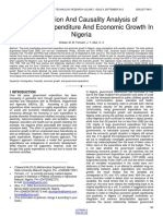 Cointegration and Causality Analysisi of Goverment Expenditure and Economic Growth in Nigeria