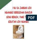 Punten Nu Ka Jamban Uih Nganggo Beresihan Banjur Sing Bersih