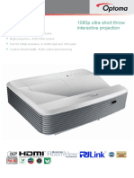 Optoma EH320USTi 3D Ready Ultra-Short Throw Business DLP Projector