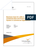 Business Case for a MCHP System in Commercial Applications