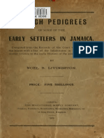 Noel B Livingston- Sketch Pedigrees of Some of the Early Settlers in Jamaica 1906