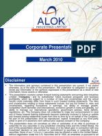 Alok Corporate Presentation - March 2010.pdf