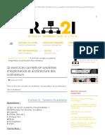 15 Exercices Corrigés en Systèmes d'Exploitation Et Architecture Des Ordinateurs - Exercices en Réseaux Informatiques