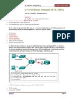 CCNA 2 Chapter 4 v5.0 Exam Answers 2015 100