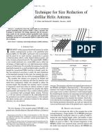 Meander Line Technique for Size Reduction of Quadrifilar Helix Antenna