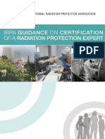 Irpa Guidance on Certification of a Radiation Protection Expert 2016
