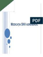 Medicatia SNV Adrenergic - Curs