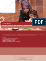 LEARNER GUIDE CHCECE007 Develop Positive and Respectful Relationships With Children