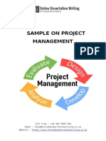 Sample Document on Project Management