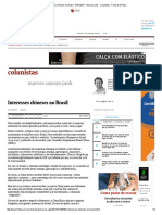 China in Brazil - Interesses Chineses No Brasil - 07-01-2017 - Marcos Jank - Colunistas - Folha de S