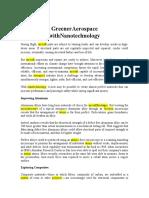 Greener Aerospace