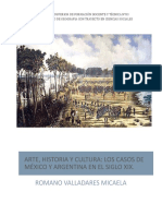 Arte, Historia y Cultura - Los Casos de México y Argentina a Mediados Del Siglo XIX