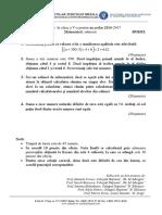 Model Subiect Matematica Admitere v 2016