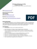 finalized performance coaching syllabus master robert