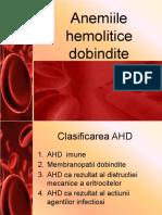 Anemiile hemolitice dobindite