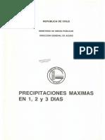 Precipitaciones Máximas en 1, 2 y 3 Días-MOP-DGA-1991