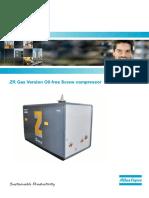 Atlas Copco  ZR Gas Version Oil-free Screw compressor.pdf