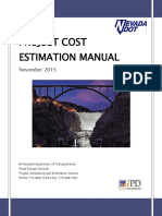 Project Cost Estimation Manual
