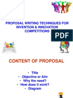 Proposal Writing for International Competition 2017