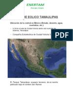Proyecto Parque Eolico Tamaulipas