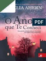 Cecelia Ahern - O Ano Em Que Te Conheci [Oficial]