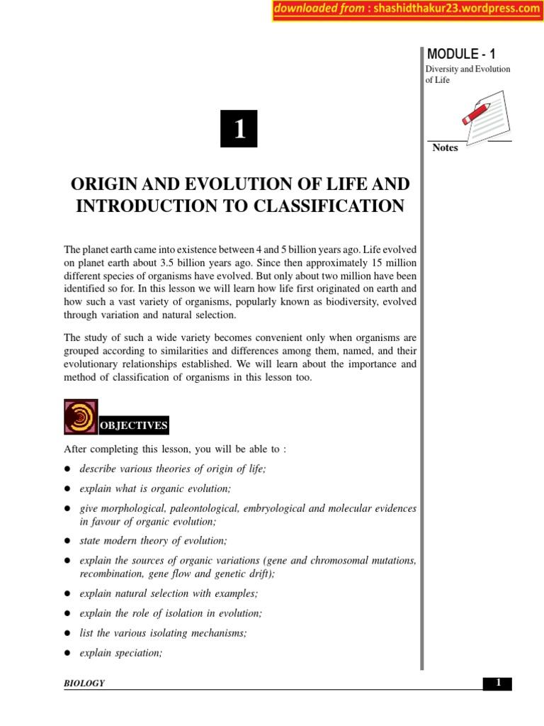 Biology NIOS | Natural Selection | Evolution