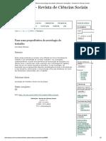 Para Uma Propedêutica Da Sociologia Do Trabalho _ Marques _ Mediações - Revista de Ciências Sociais