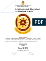 LeBoldus Student Handbook 2016-2017