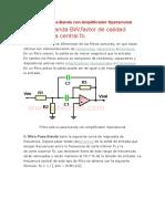 Filtro Activo Pasa Banda Con Amplificador Operacional