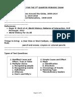 Review Guide for the 3rd Quarter Periodic Exam