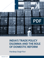 India's Trade Policy Dilemma and the Role of Domestic Reform