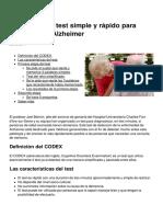 El Codex Un Test Simple y Rapido Para Diagnosticar Alzheimer 3337 Mhe2yo