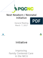 PQCNC 2018 Neo Initiative Family Centered Care in the NICU