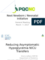 PQCNC 2018 Neo Initiative Reducing Asymptomatic Hypoglycemia NICU Transfers