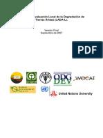 Manual de Evaluación Local de la Degradación de  Tierras Áridas (LADA-L)