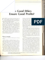 Do Good Ethics Ensure Good Profits1
