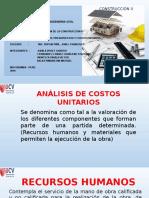 Análisis de Costos Unitarios en La Construcción Civil