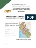 Las Nuevas Centralidades Urbanas de Las Ciudades de Chincha, Pisco y Ica
